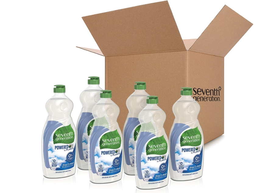 Seventh Generation Dish Liquid Soap, Free & Clear, 25 oz, Pack of 6 Just $13.36, Reg $20.49 + Free Shipping!