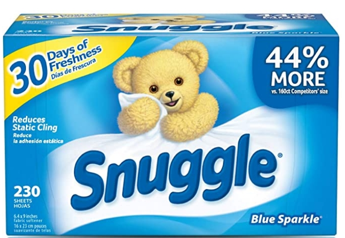 Snuggle Fabric Softener Dryer Sheets, Blue Sparkle, 230 Count Just $4.94 Each (Reg. $15.38) + Free Shipping at Amazon!