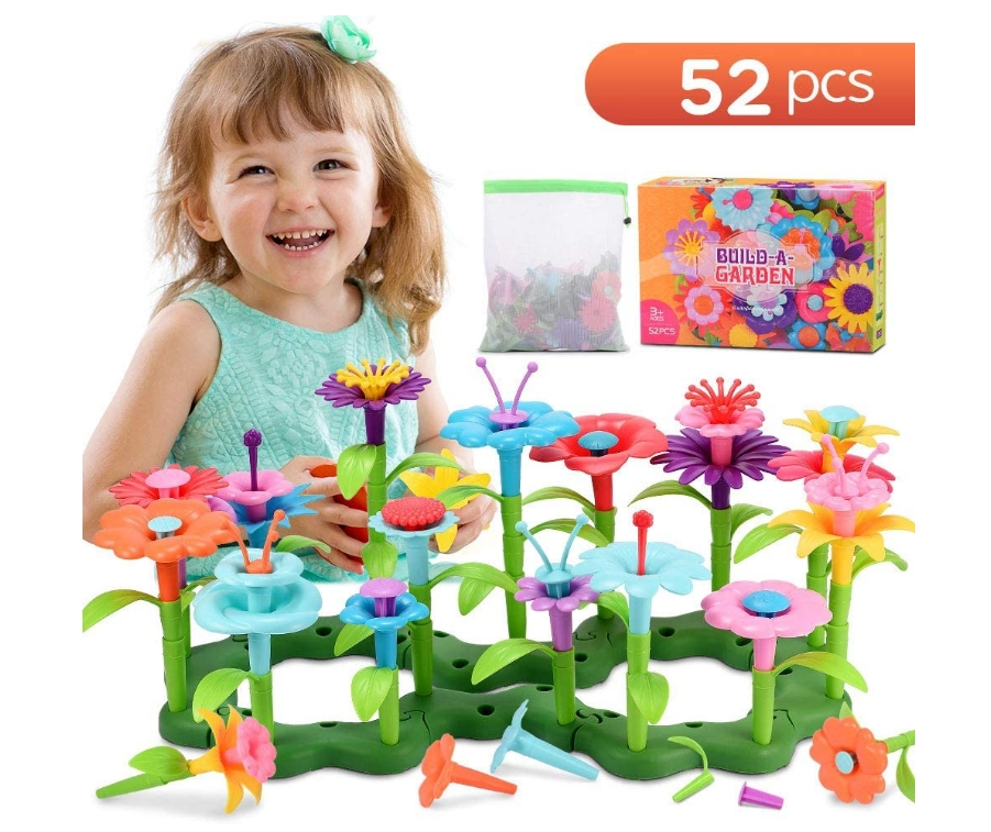 52pcs Flower Garden Educational Building Toys For Kids Only $11.69, Reg $17.99 at Amazon!