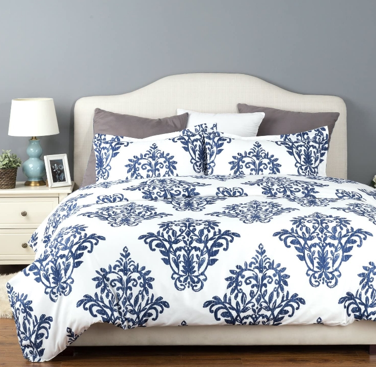 Bedsure Victoria Blue Modern Duvet Cover Set Only $14.99 + Free Shipping! All Sizes 50% Off!