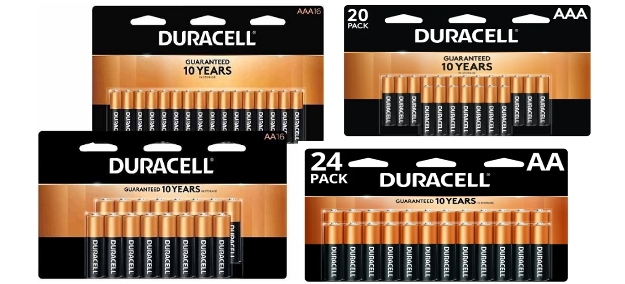 Free Duracell 16-Pack or 24-Pack Batteries + Free Store Pickup at Office Depot!