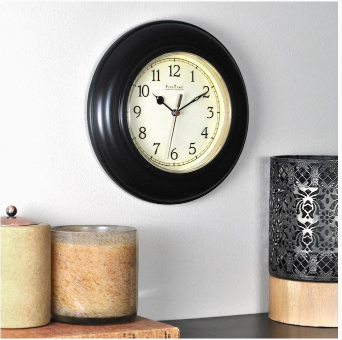 FirsTime and Co. Bronze Wall Clock Just $3.56, Regularly $8.01 + Free Store Pickup at Lowe's!