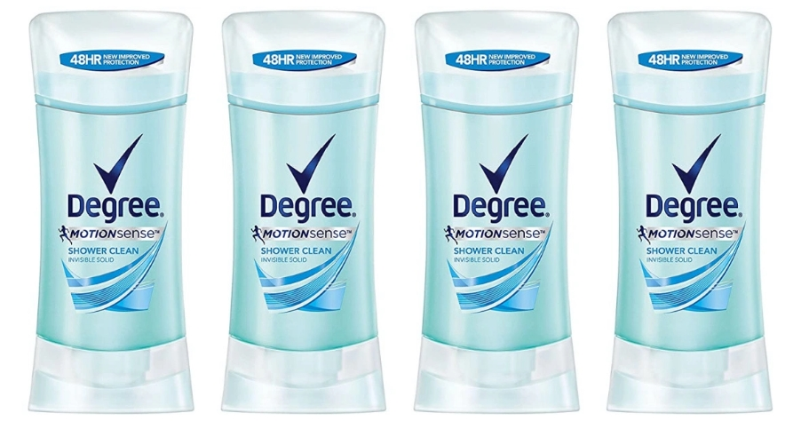 Degree Women Motionsense Shower Clean Deodorant 4-Pack Only $7.20 ($1.80 ea), Reg 15.99 + Free Shipping at Amazon!