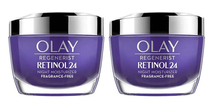 Olay Regenerist Retinol24 1.7oz Night Moisturizer Only $8.33 ea (Reg $23.50) + Free Shipping!