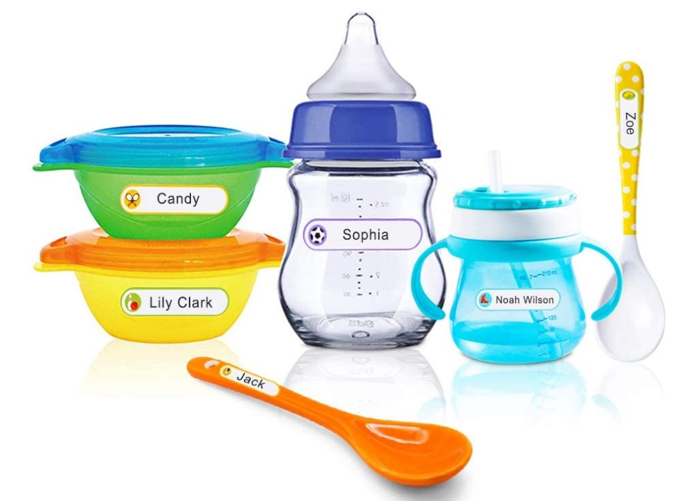128 Write-On Laminated Name Labels for Daycare, School or Travel Only $7.32 + FS (Reg $13.32)! Microwave, Dishwasher and Freezer-Safe!
