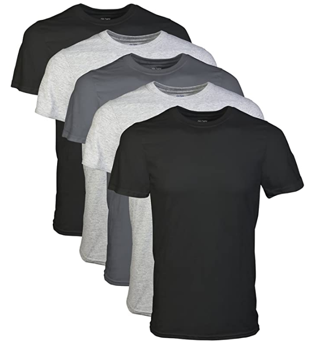 Gildan 5 Pack Men's Crew T-Shirts Only $15.00 (Regularly $16.99) Just $3.00 each at Amazon!