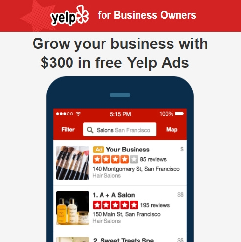 Grow Your Business With FREE $300 Upfront Credit For Yelp Ads!