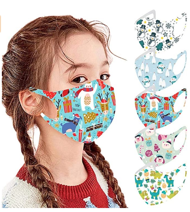Reusable5 Pack Holiday Face Mask For Only $1.79 + Free Shipping!