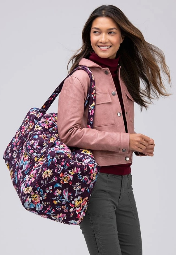 Vera Bradley Large Duffel Bag (2 Colors) Only $35, Reg $100 + Free Shipping! TODAY ONLY!!!