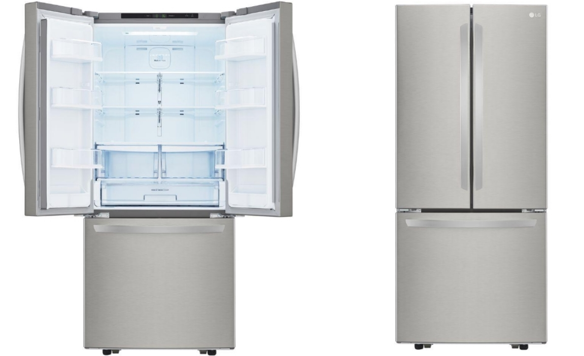 French Door Refrigerator in Stainless Steel 30 in. W 21.8 cu. ft. for only $1098.00, Reg $1600.00 + Free Delivery!