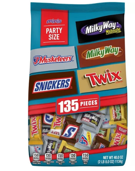 Mars 40oz Halloween Minis Chocolate Favorites Variety Pack (135 Pieces) Only $6.99, Reg $9.99 + Free Store Pickup at Target!!