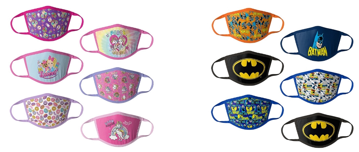 Six-Piece Kids Non-Medical Face Mask Set Only $11.99 ($2 a Mask) at Zulily!