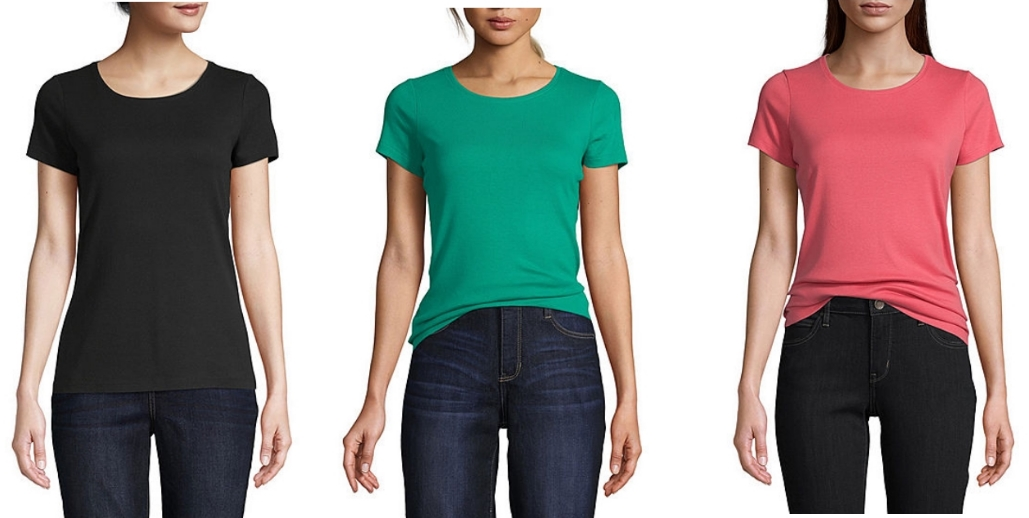 St. John's Bay-Women's Crew Neck Short Sleeve T-Shirt Only $4.19 (Reg. $14) at JCPenney.com + Free Store Pickup!