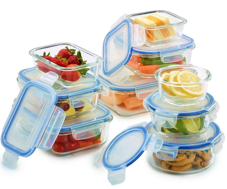 18 piece Glass Food Container Set with Locking Lids Only $32.99 Reg $38.99 at Walmart.com!