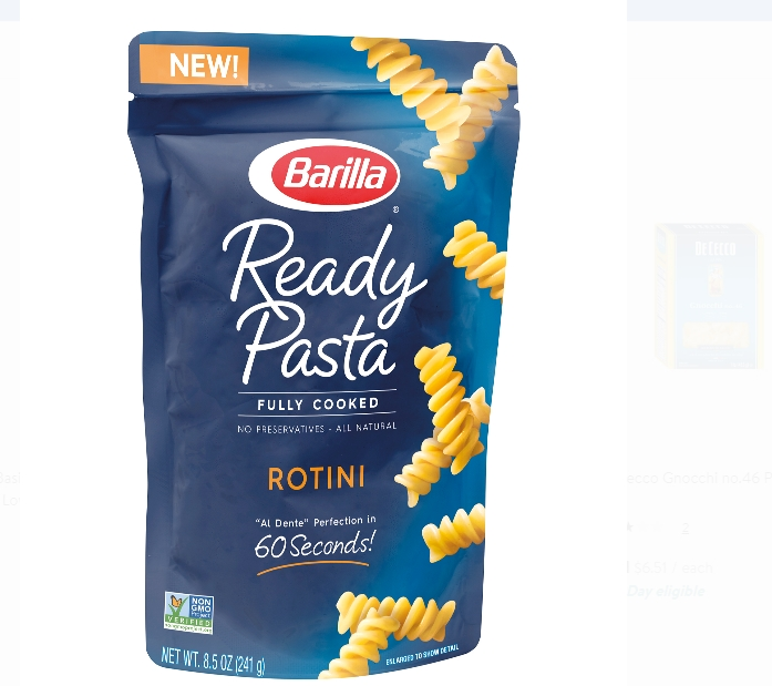 Barilla Ready Pasta, fully cooked, 8.5 oz FREE at Publix