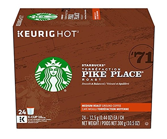 Keurig.com – 20% Off SITEWIDE! Starbucks Pike Place Roast, K-Cup (24 Count) Only $14.39 (Reg. $17.99)!