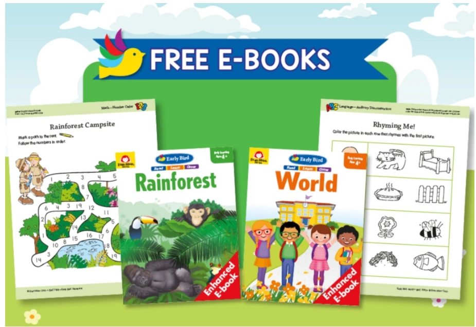 FREE Evan-Moor Educational Activity eBooks for Pre-K Through 6th Grade!