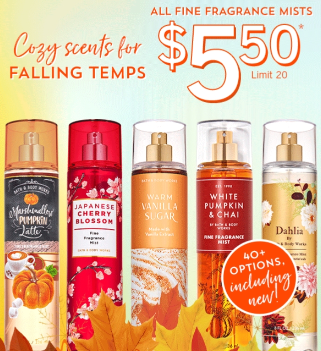 Bath & Body Works Fine Fragrance Mists Only $5.50 (Regularly $14 – $15.50) Online AND In-Store!