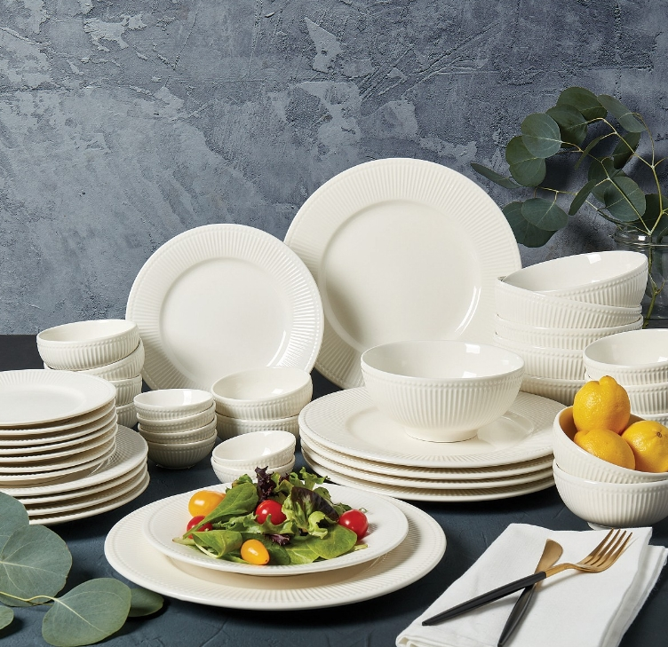 Whiteware Dinnerware Sets (42-Piece) Only $37.99, Regularly $120 + Free Shipping at Macys.com!
