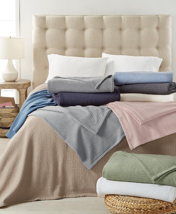 Ralph Lauren 100% Cotton Blankets $24.00, Reg $120.00 at Macy's.com!