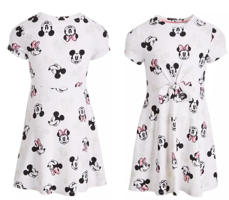 Disney Little Girls Mickey & Minnie Mouse Dress Only $9.80, Reg $28.00 + Free Store Pickup at Macy's.com