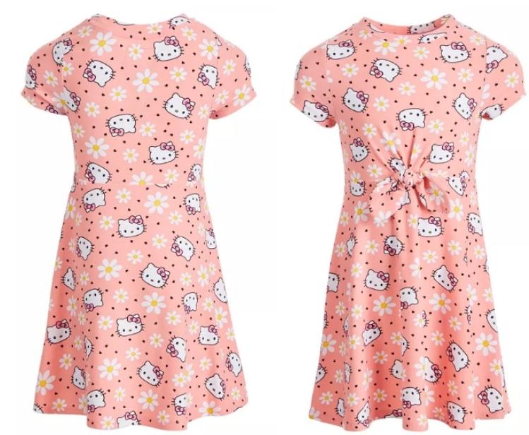 Hello Kitty Little Girls Flower Dress Only $9.80, Reg $28.00 + Free Store Pickup at Macy's.com!