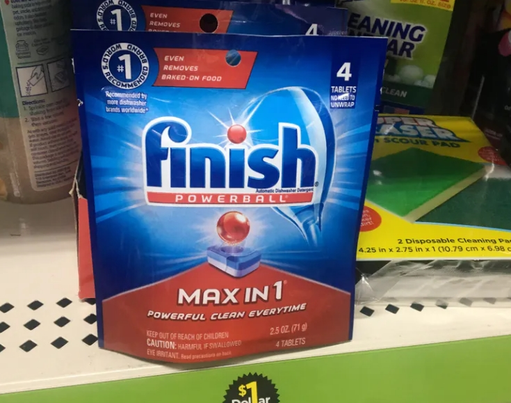 Finish Max-In-1 Dish Detergent FREE at Dollar General!