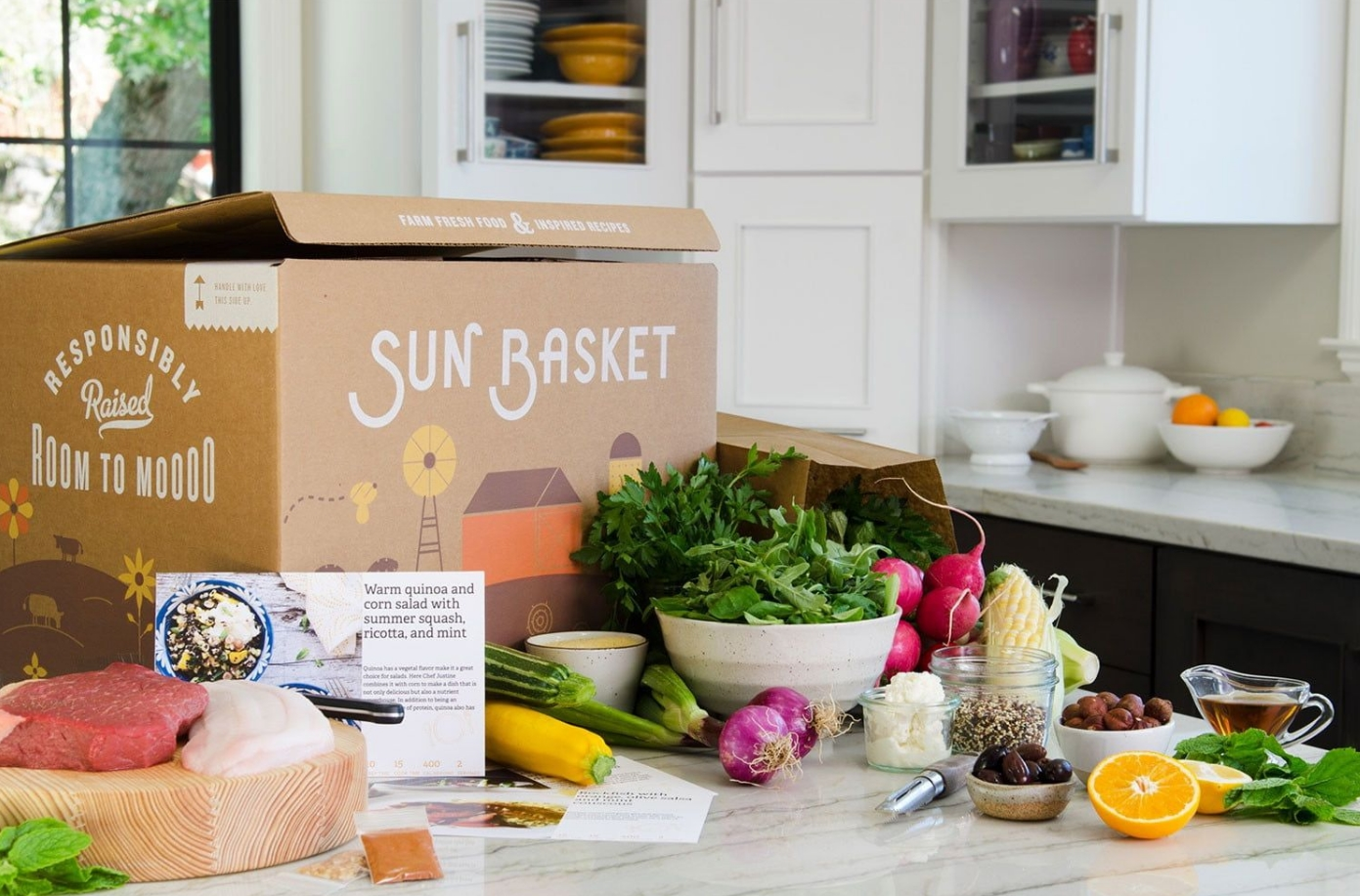 Sun Basket $35 off Any Order for New Customers + 4 Free Gifts + Free Shipping! Organic Meals Delivered to Your Door!