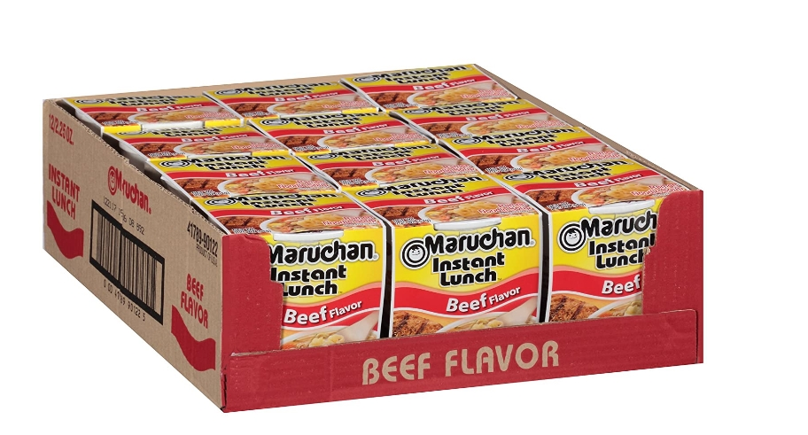Maruchan Beef Instant Lunch Cups 12-Count Only $3.36 + Free Shipping at Amazon!