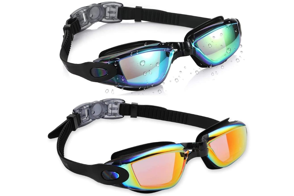 No Leaking, Anti Fog 2 Pack Swim Goggles with Free Protection Case Only $6.00, Reg $14.99! That's Just $3.00 Each!!!