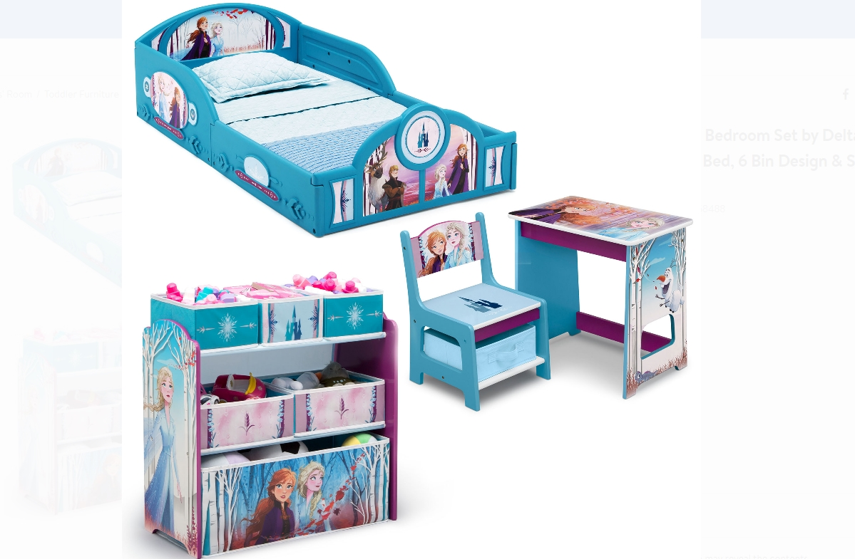 Disney 4-Pc Room-in-a-Box Set (Multi Options) Only $99, Reg $129.99 + Free Shipping!