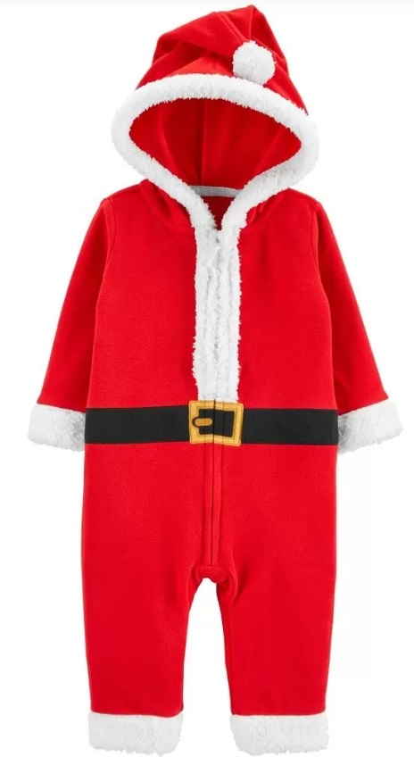 Free Shipping on ANY Carter's Order – Santa Zip-Up Jumpsuit Just $10.40 Shipped!