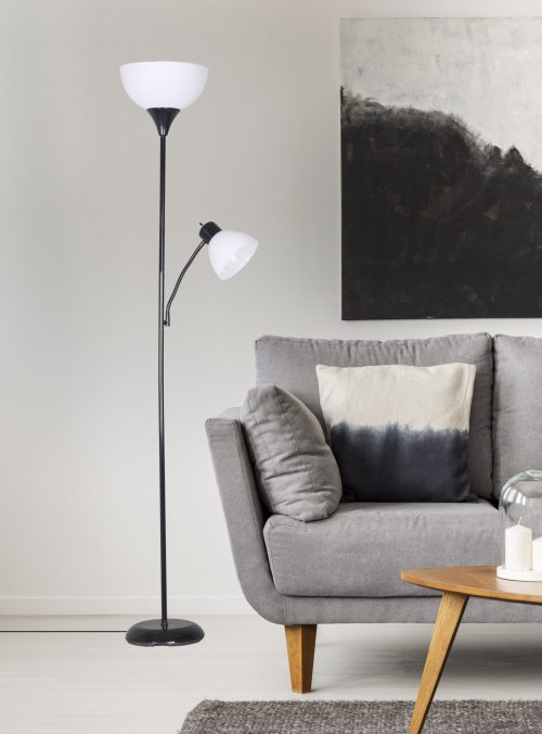 """Mainstays 72"""" Combo Floor Lamp Black, Brown, Gold and Silver Only $11.44 (Reg $14.99) + Free Store Pickup at Walmart.com!"""