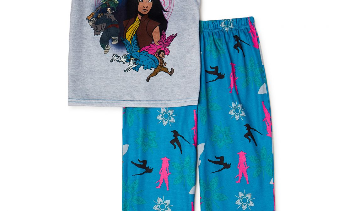 Disney Raya and the Last Dragon Girls Short Sleeve Top and Pants Only $23.99 (Reg $31.99) + Free Store Pickup at Walmart.com!