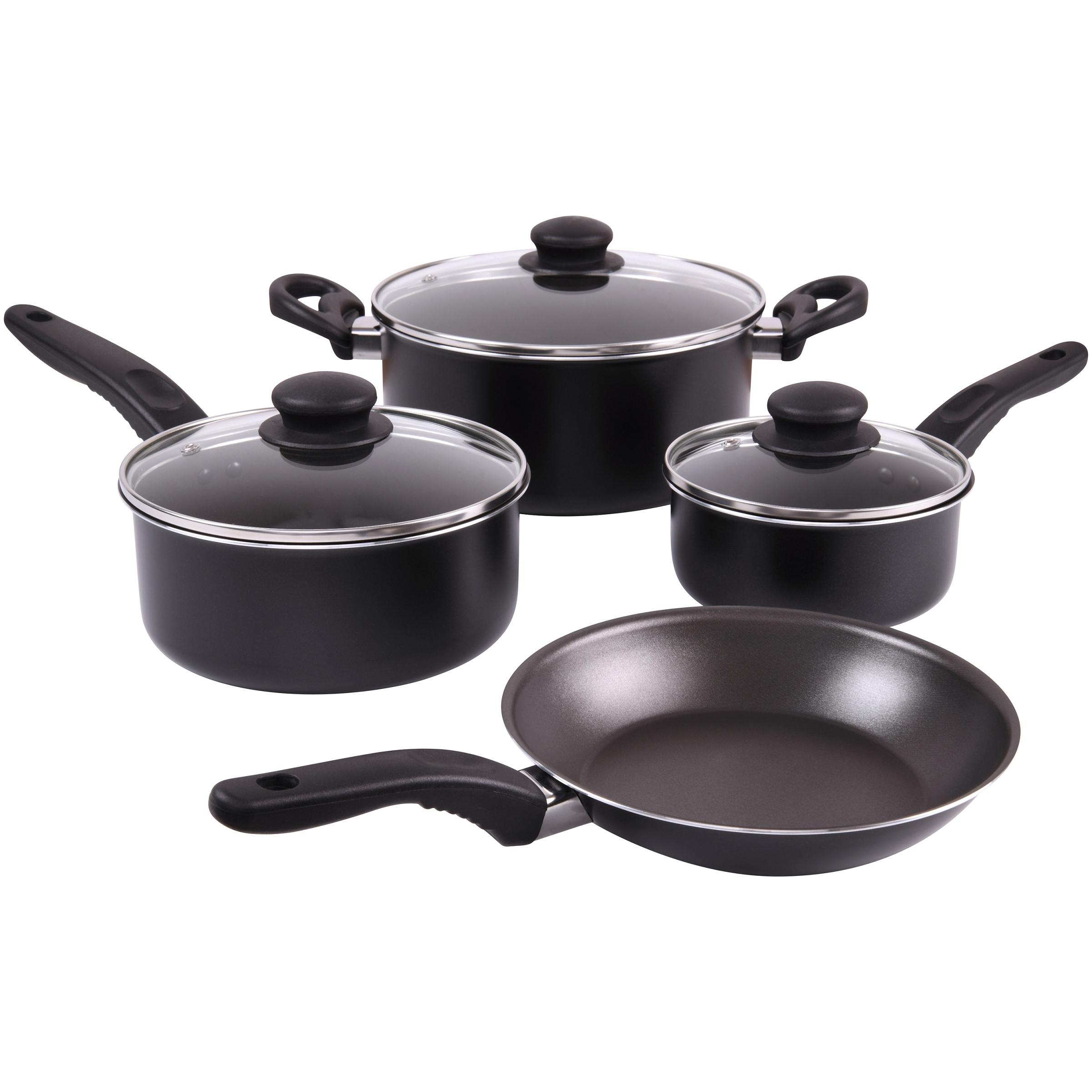 Mainstays 7 Pc Aluminum Cookware Set  Only $14.94 (Reg $25.50) + Free Store Pickup at Walmart.com!