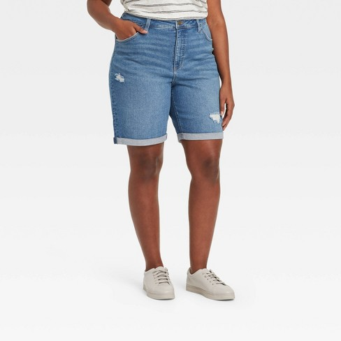 Women's Plus Size High-Rise Jean Shorts Only $17.00 (Reg $19.99) + Free Store Pickup at Target.com!
