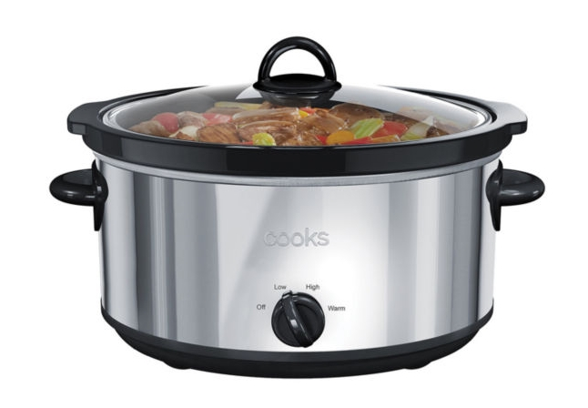 Cooks 6-Qt. Stainless Steel Slow Cooker Only $17.99 (Reg. $50) + Free Store Pickup at JCPenney!