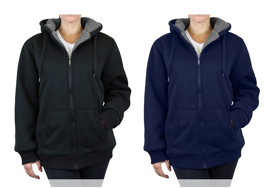 Get Two (2) Sherpa Lined Fleece Hoodies for Only $23.99 Shipped for Amazon Prime Members!