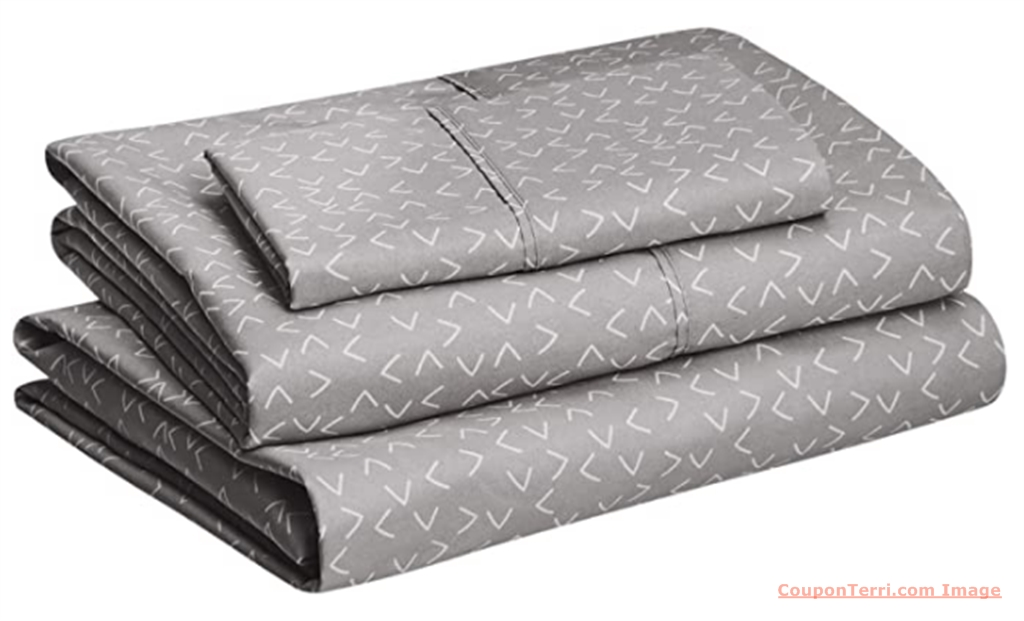 Amazon Basics Microfiber Twin Sheet Set (Variety of Patterns and Colors) Only $14.99!