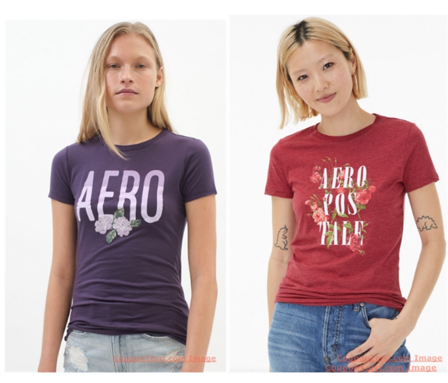 Buy 1, Get 2 Free Qualifying Graphic Tees at Aeropostale! As Low as $7.50 each! In-Store and Online!