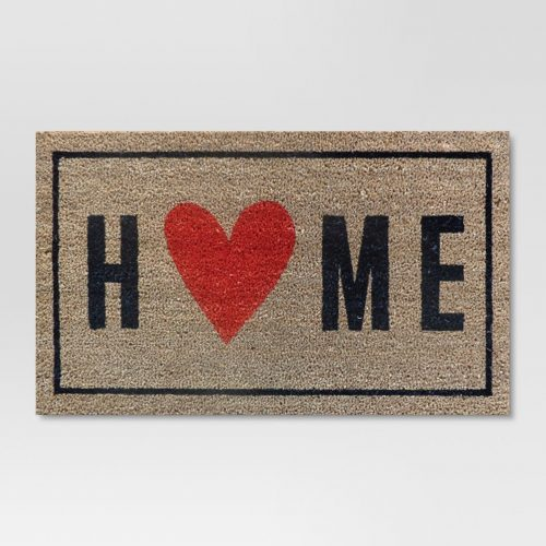 Home with the Heart Typography Doormat Only $10.39 (Reg $12.99) + Free Store Pickup at Target.com!