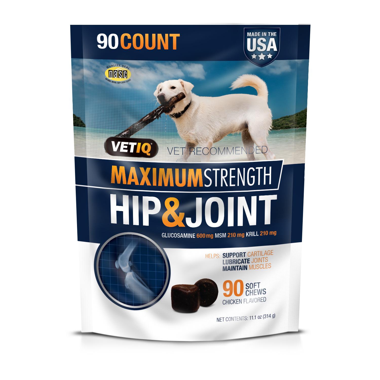 VetIQ Maximum Strength Hip & Joint Supplement  Only $6.71 (Reg $12.88) + Free Store Pickup at Walmart.com!