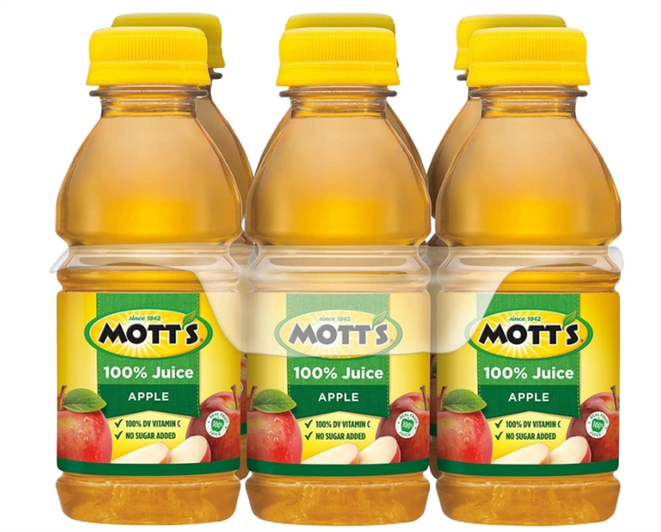 Save an Additional 25% Off Select Items at Amazon! Mott's 100% Apple Juice 8-Ounce Bottles 6-Pack Only $1.99 Shipped!