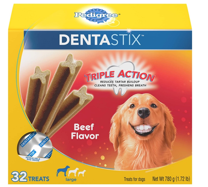Pedigree Dentastix Treats for Large Dogs 32-Count Box Only $4.49 + Free Shipping at Amazon!