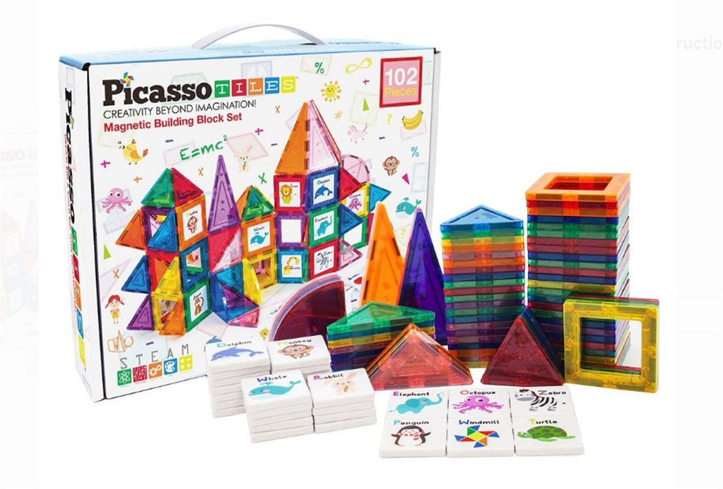 102-Piece Learning Magnetic Tile Set Only $29.99 (Reg $99.00) at Zulily!